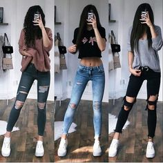 Edgy Outfits, Teen Fashion Outfits, Grunge Outfits, Cute Casual Outfits, Outfits For Teens, Look Fashion, Pretty Outfits, Korean Fashion, Fashion Clothes