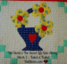 Pat Sloan Sweet Life Sew Along block 2 http://blog.patsloan.com/2015/04/pat-sloan-the-sweet-life-block-2.html