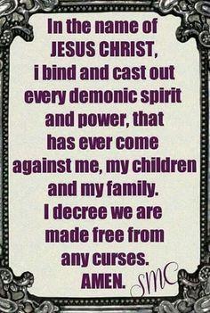 In Jesus name Amen!