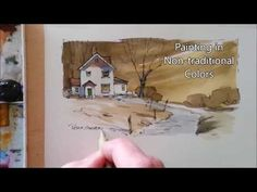 (4) Having fun with color. Line and Wash Watercolor. Great for beginners. Peter Sheeler - YouTube