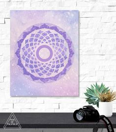 Instant Digital Download, no physical item will be sent.    ☽ Crown Chakra Sahasrara Symbol with a paisley and abstract bohemian soft grunge