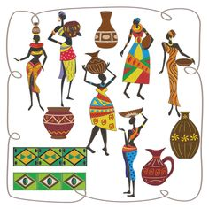 African Ladies Machine Embroidery Designs