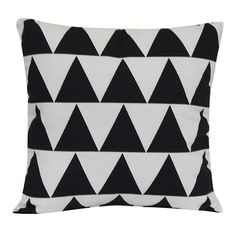 Room Essentials™ Outdoor Pillow - Black Triangle
