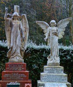 Angels In Marble, Arnos Vale Cemetery, Bristol by Steve Lewis