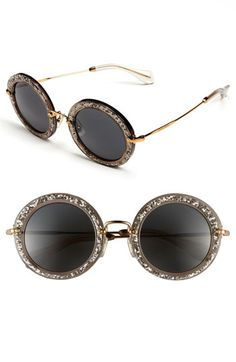 ummm we need to have a discussion about these Miu Miu Round Retro Sunglasses. BEYOND FABULOUSNESS! #Sparkle #shineon