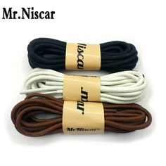 BRITISH QUALITY Traditional Waxed Cotton Dress Shoelaces 2.5 mm in Mid Brown