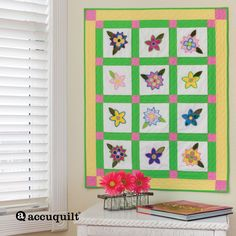 Bring some blooms inside with the GO! Blooming Bunch Wall Hanging.  The variety of flowers brings this quilt to life.  This quilt is ready to pop with all your favorite fabrics.Compatible with these fabric cutters:GO!GO! Big      Studio**Must use with GO! Die AdapterLearn How to download quilt patterns.Fabrics are from the Soho Solids Collection and provided by Timeless TreasuresEmbroidery used on pattern is GO! Flower Bunch Embroidery by V-Stitch Designs (VQ-FBE) (embroidery NOT included…
