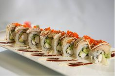Do you love to breathe fire like a dragon? Our delicious dragon rolls with a side of wasabi will light a fire inside of you that will bring a tear to your eye, and put a smile on your face. Pay us a visit! http://www.kitstayasushi.com/menu_9.html