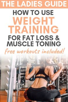 The Ultimate Beginners Guide to Strength Training for Weight Loss - Krafttraining & Crossfit - Fitness Pilates Training, Weight Training Workouts, Weight Training Programs, Women Weight Training, Triathlon Training, Pilates Yoga, Muscle Training, Strength Training For Beginners, Strength Training Program