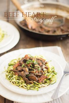 Beef Heart Stroganoff   thehealthyfoodie.com