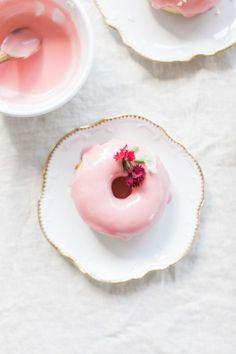 Vegan Pink Doughnuts