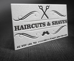 Vintage Barber Shop Business Card, free vectors - Clipart.me
