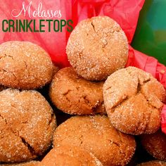 Molasses Crinkletops are spicy, tasty little cookies that are crisp on the outside and soft in the middle!