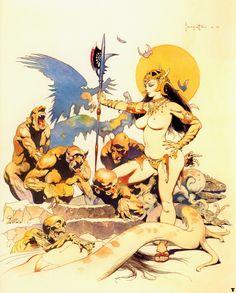 Frank Frazetta :: the Goblin Queen