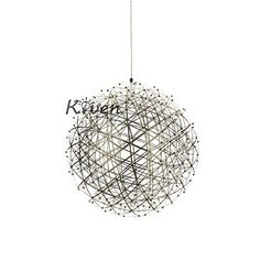 Kiven 177 inch Diameter Sparking Stars Lights 42 PCS LEDS Modern Style Pendant Light Stainless Steel Light Fixture Warm white 3000K -- Want to know more, click on the image. (Note:Amazon affiliate link)