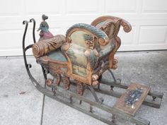 """pictures of hand painted slieghs 