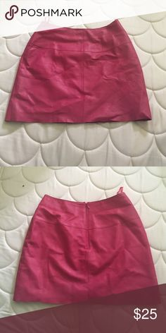 pink leather miniskirt gorgeous bright pink genuine lined leather! Maxima Skirts Mini