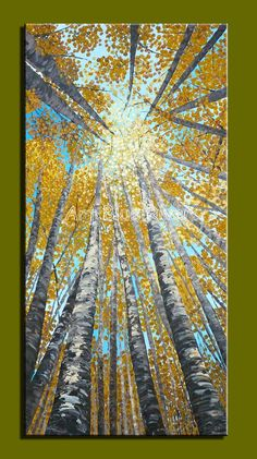 Find More Painting & Calligraphy Information about Abstract modern canvas wall art hand painted vertical yellow tree oil painting on canvas paint brush for living room decoration,High Quality brush eyelash,China brush alternator Suppliers, Cheap brush washer from Art Blue River on Aliexpress.com