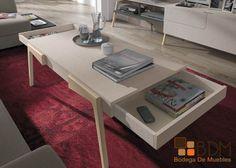Mesa de centro, funcional, práctica y estética.