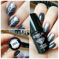 Instagram photo by @annabel_pl via ink361.com SEMILAC: 016 Grunge; 093 Silver Dust