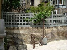 Painted Classic Bespoke Trellis Panels - Wooden Fence Trellis Panels - Essex UK, The Garden Trellis Company Wall Trellis, Trellis Panels, Trellis Fence, Garden Fence Panels, Lattice Fence, Garden Trellis, Garden Walls, Trellis Ideas, Garden Plants
