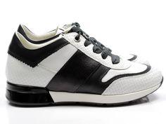 67679b3cf68 DL-Sport veter sneaker 4256 - wit / combi vind je bij Emmen schoenen de