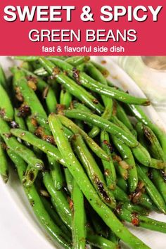 These Sweet and Spicy Skillet Green Beans are one of my favorite easy side dishe. - These Sweet and Spicy Skillet Green Beans are one of my favorite easy side dishes. Curry Side Dishes, Indian Side Dishes, Side Dishes For Chicken, Pasta Side Dishes, Veggie Side Dishes, Vegetable Sides, Side Dishes Easy, Side Dish Recipes, Veggie Recipes