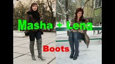 Lovely Ladies - sexy heels, high boots - #001: Masha and Lena (Overknee-...