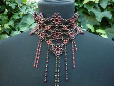 1980s Vintage Victorian Style/Steampunk Mauve and by LMJVintage