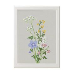 Wildflowers cross stitch pattern flower cross stitch Modern