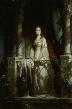 Juliet (1877), Sir Frank Bernard Dicksee #art #painting