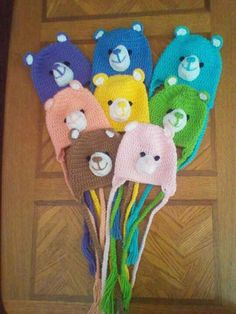Crochet  Care Bear Earflap Beanie Hat - Etsy $20.00
