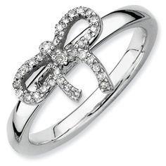 April #birthstone #diamond #bow #ribbon #ring