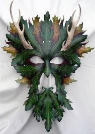 Greenman horned leather mask (By Mythical Masks/Oddiments/Shane and Leah Odom?)