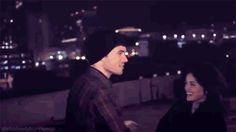 PLL - lucy hale and ian harding gif