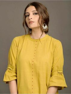 Looking for beautiful neck designs for plain Kurtis/Kurthas ? Here are 20 flattering designs that can add a dash of style to your kurti style.Different types of sleeves often found in vintage clothing - ArtsyCraftsyDad Kurti Sleeves Design, Sleeves Designs For Dresses, Kurta Neck Design, Neck Designs For Suits, Neckline Designs, Dress Neck Designs, Sleeve Designs For Kurtis, Neck Design For Kurtis, Plain Kurti Designs