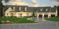 Pepperwood Place House Plan - Pepperwood Place House Plan | Archival Designs | Front Rendering - Archival Designs