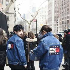 BJ Pascual & Liz Uy rocking the Tommy Jeans jacket #TommyFall16 #NYFW #streetstyle