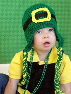 St Patrick's Day Crochet Leprechaun Hat by TheAppleandTree on Etsy, $18.00
