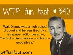 Some people have no vision.Not walt disney / people's fact MORE OF WTF FUN FACTS are coming HERE people, education and fun facts Funny Disney Facts, Disney Memes, Disney Quotes, Walt Disney Facts, Disney Trivia, The More You Know, Good To Know, Just For You, Jelsa