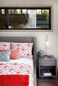 Mountain retreat blends rustic-modern styling in Martis Camp Rustic Contemporary, Contemporary Bedroom, Modern Rustic, Bedroom Styles, Bedroom Colors, Bedroom Decor, Bedroom Ideas, Bedroom Inspiration, Style Inspiration