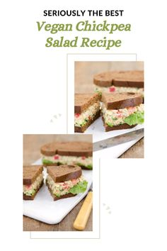 Try this ULTIMATE Chickpea Salad! A healthy, plant-based, vegan alternative to tuna salad that is even more delicious! Vegan Hummus Wrap, Make Ahead Salads, Chickpea Salad Recipes, Vegan Lunches, Tuna Salad, Nut Free, Lunch Ideas, Vegan Gluten Free, Plant Based