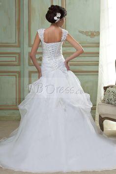 Amazing Trumpet/Mermaid Square Floor-Length Court Train Wedding Dress