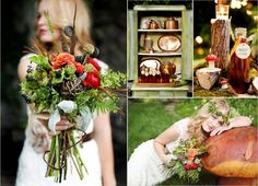 Spotted a dreamy woodland-style shoot over on The Wedding Chicks this ...