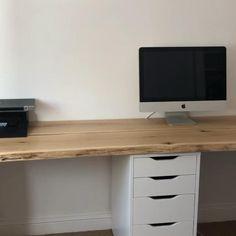 Diy Office Desk, Home Office Setup, Home Office Organization, Home Office Desks, Home Office Furniture, Office Table, Office Ideas, Diy Wood Desk, Diy Desk