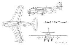 File:SAAB J 29 Tunnan - 3D drawing.svg