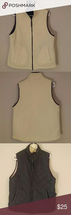 Women's Head Tennis Apparel Reversible Vest Versatile piece to add to your closet. Fleece side is a light yellow, quilted side is green. Size medium. Great condition! Head Jackets & Coats Vests