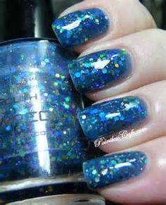 blue bash glitter nail polish