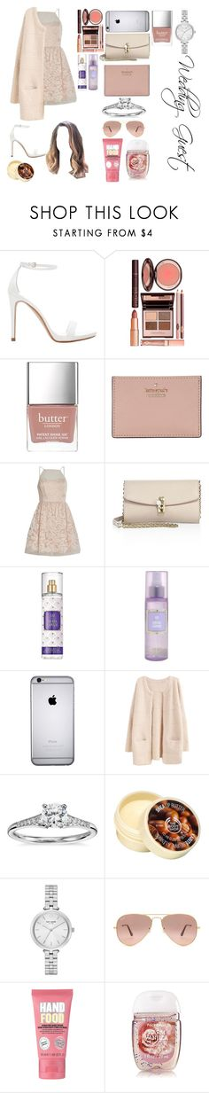 """""""Wedding Guest"""" by xkidinthedarkx ❤ liked on Polyvore featuring Zara, Charlotte Tilbury, Butter London, Kate Spade, Lipsy, Dolce&Gabbana, Blue Nile, The Body Shop, Ray-Ban and Soap & Glory"""