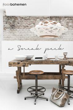 © Paulina Arcklin | A Sneak peek from Floor Bohemen photo shoot - love the rustic table with stools